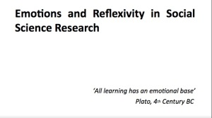 Emotions and Reflexivity